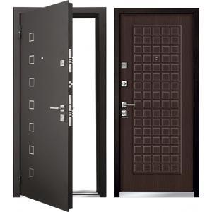 Cтальная дверь Mastino - модель Area Черный шелк / Венге