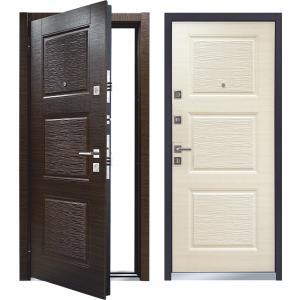 Cтальная дверь Mastino - модель Line 2 Темный венге / Светлый ве