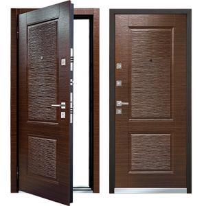 Cтальная дверь Mastino - модель Line 2 Темный венге