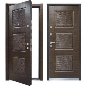 Cтальная дверь Mastino - модель Line 3 Темный венге