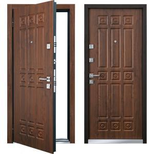 Cтальная дверь Mastino - модель Novara Орех грецкий