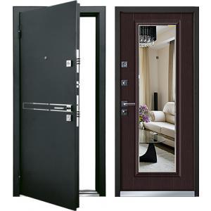Cтальная дверь Mastino - модель Parko Черный шелк / Венге
