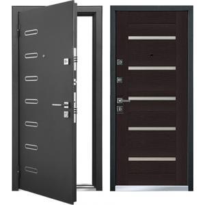 Cтальная дверь Mastino - модель Ponte Черный шелк / Венге