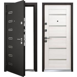 Cтальная дверь Mastino - модель Ponte Черный шелк / Шамбори свет