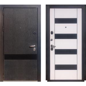 Входная дверь ЗЕТТА ПРЕМЬЕР3 КБ1 F097 кора черная / F067 кора бе