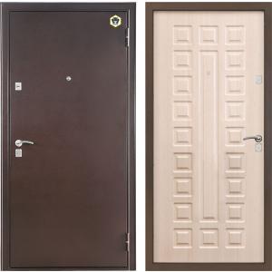 Входная металлическая дверь Бульдорс -32С дуб беленый