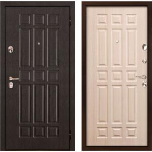 Стальная дверь Бульдорс -24 Венге/Беленый венге