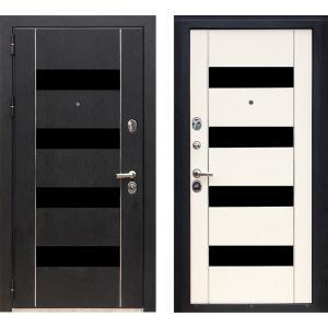 Входная дверь ЗЕТТА ПРЕМЬЕР3 КБ1 F067 кора черная / F067 венге б