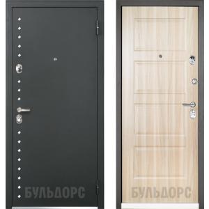 Входная металлическая дверь Бульдорс  Martin  44R холст серый R-