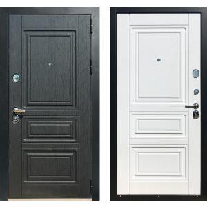 Входная  дверь ЗЕТТА Премьер 100 КБ 1 Кора белая / Кора черная