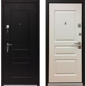 Входная дверь Бульдорс 45 new Черное / Белое дерево