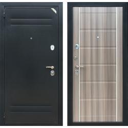 Стальная дверь ЗЕТТА Евро 2 Б2, цвет Антик серебро черный