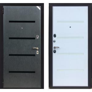 Входная Стальная Дверь Зетта КОФМОРТ 3 Д1 молдинги-стекло