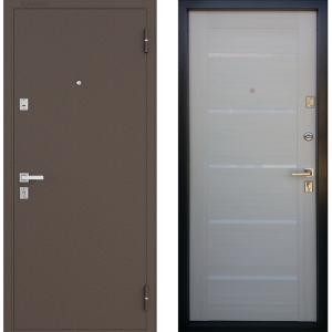 Стальная дверь Бульдорс-13 P new царговый беленый дуб