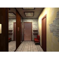 Стальная дверь Zetta E2 Б2 ТИСНЕНЫЙ ОРЕХ