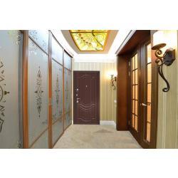 Входная дверь Zetta ЕВРО 2 Б2 рис. F003 (темный орех)