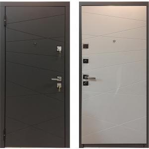 Cтальная дверь Мастино МОНТЕ Софт Графит