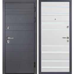 Входная дверь Зелар Технолюкс Софт белый стекло