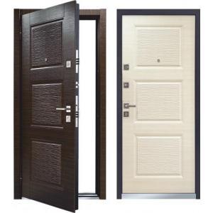 Входная дверь Мастино MONTE Тёмный венге / Светлый венге (Ареа)