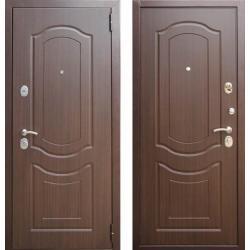 Входная дверь ЕВРО 3 ГРАЦИЯ Орех премиум