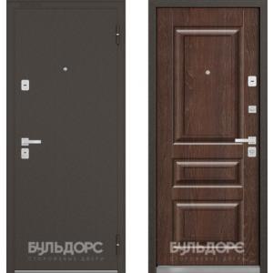Входная металлическая дверь Бульдорс 44 Конструктор дуб коньяк N