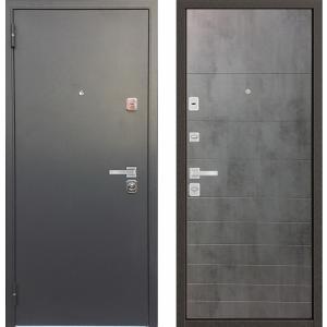 Входная металлическая дверь Бульдорс 44 Конструктор бетон темный