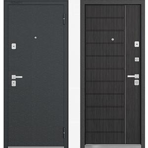 Входная металлическая дверь Бульдорс 44 R14 ларче темный N-9