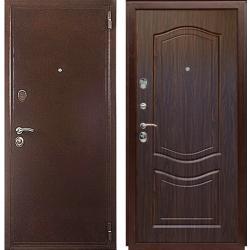 Входная дверь ЕВРО ВЕНЕЦИЯ тисненый орех