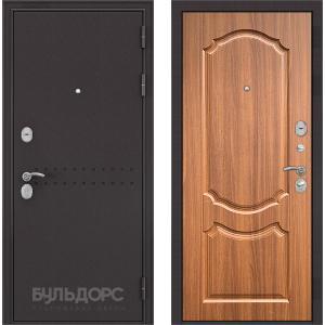 Стальная дверь Бульдорс MASS 90 орех лесной 9SD-4