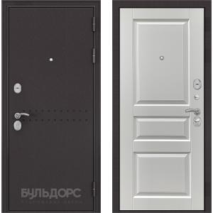 Стальная дверь Бульдорс MASS 90 ларче белый 9SD-2