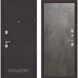 Стальная дверь Бульдорс MASS 90 бетон темный 9S-135