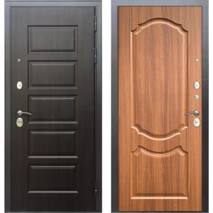 Стальная дверь Бульдорс MASS90 PP орех лесной 9SD-4