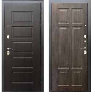 Стальная дверь Бульдорс MASS90 PP дуб шале серебро 9S-109