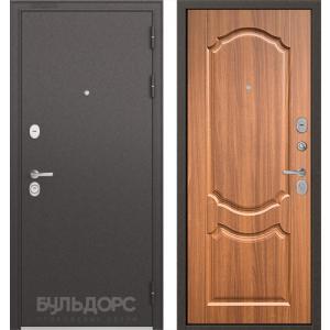 Стальная дверь Бульдорс STANDART 90 орех лесной 9SD-4
