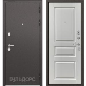 Стальная дверь Бульдорс STANDART 90 ларче белый 9SD-2