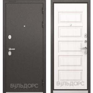 Стальная дверь Бульдорс STANDART 90 дуб белый матовый 9S-108