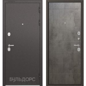 Стальная дверь Бульдорс STANDART 90 бетон серый 9S-135
