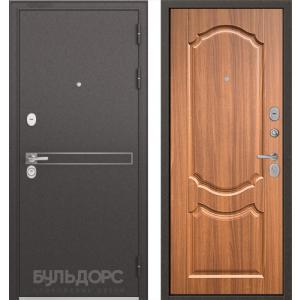 Стальная дверь Бульдорс STANDART 90 D-4 орех лесной 9SD-4