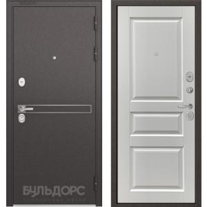 Стальная дверь Бульдорс STANDART 90 D-4 ларче белый 9SD-2