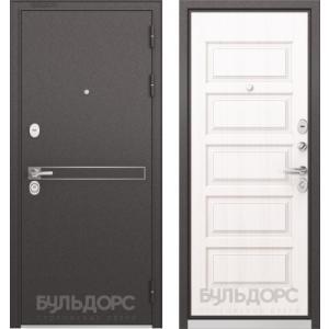 Стальная дверь Бульдорс STANDART 90 D-4 дуб светлый матовый 9S-1