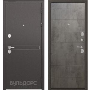Стальная дверь Бульдорс STANDART D-4 90 бетон серый 9S-135
