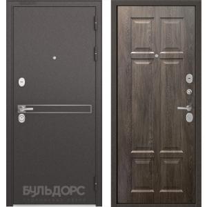 Стальная дверь Бульдорс STANDART 90 D-4 дуб шале серебро 9S-109