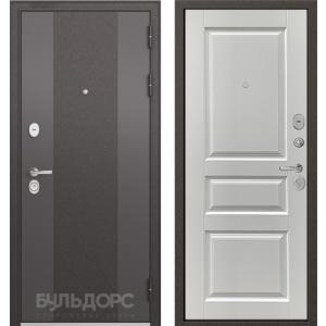 Стальная дверь Бульдорс STANDART 90 9К-4 ларче белый 9SD-2