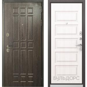 Стальная дверь Бульдорс STANDART 90 дуб шоколад / светлый матовы