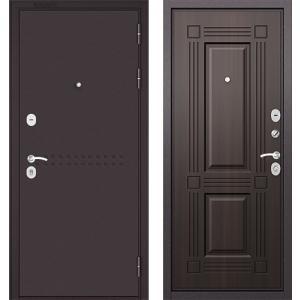 Стальная дверь Бульдорс MASS 90 ларче тёмный 9S-104
