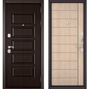 Стальная дверь Бульдорс MASS90 PP ясень ривьера крем 9S-136