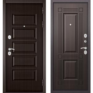 Стальная дверь Бульдорс MASS90 PP ларче тёмный 9S-104