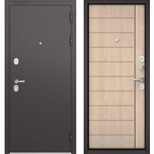 Стальная дверь Бульдорс STANDART 90 ясень ривьера крем 9S-136