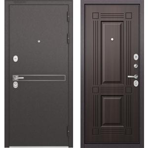 Стальная дверь Бульдорс STANDART 90 D-4 ларче тёмный 9S-104