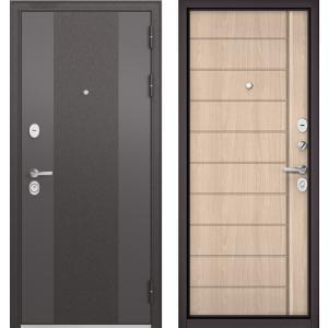 Стальная дверь Бульдорс STANDART 9К-4 90 ясень ривьера крем 9S-1
